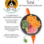 Grain Free Tuna with Salmon, Sweet Potato and Broccoli