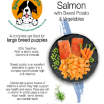 Grain Free Large Breed Puppy/Junior – Salmon with Sweet Potato & Vegetables