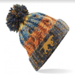 Branded Bobble Hat – Retro Blues